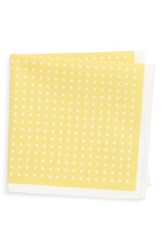 Nordstrom Boy's Dot Cotton Pocket Square Yellow White Dot