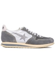 Haus By Ggdb Glittery Star Lace Up Sneakers Unisex Leather Suede Nylon Rubber 39 Grey