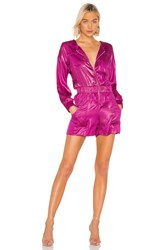 Kendall Kylie X Revolve Liquid Shine Hooded Romper Pink