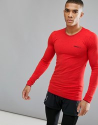 Craft Sportswear Active Comfort Running Knitted Long Sleeve Top In Red 1903716 2566 Red