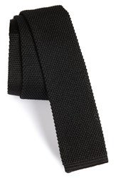 Boss Men's Solid Knit Silk And Cotton Skinny Tie