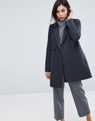 Warehouse Double Breasted Tailored Coat Grey