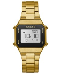 Guess Unisex Digital Gold Tone Stainless Steel Bracelet Watch 39X39mm