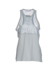 Adidas By Stella Mccartney Adidas By Stella Mccartney Topwear Vests Women Sky Blue