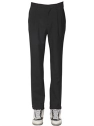 Maison Martin Margiela 14Cm Wool And Mohair Crepe Granite Pants