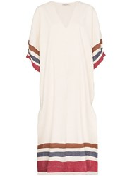Three Graces Livietta Striped Dress Neutrals