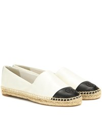 Tory Burch Leather Espadrilles White