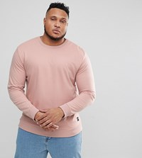 Only And Sons Plus Crew Neck Sweat Misty Rose Pink