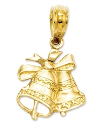 Macy's 14K Gold Charm Polished Christmas Bells Charm