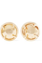 Gabriela Artigas Gold Tone Earrings Metallic