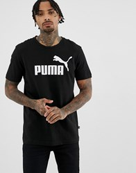 Puma Essentials T Shirt With Large Logo In Black