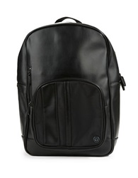Ben Sherman Faux Leather Backpack Black