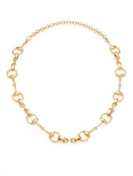 Gucci Horsebit 18K Yellow Gold Link Necklace
