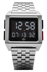 Adidas Archive Digital Bracelet Watch 36Mm Silver
