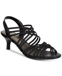 Impo Elenna Stretch Strappy Dress Sandals Women's Shoes Black