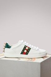 Gucci Ace Studded Leather Low Top Sneaker Bia V.R.V Red F Ver.