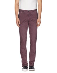 Aeronautica Militare Trousers Casual Trousers Men Mauve