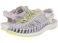 Keen Uneek Vapor Chartreuse Women's Toe Open Shoes Gray