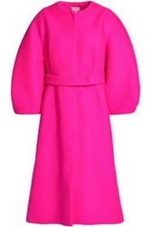 Delpozo Wool Felt Coat Bright Pink
