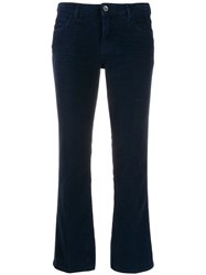 Haikure Cropped Flared Trousers Blue