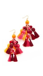 Kate Spade New York Pretty Poms Tassel Statement Earrings Multi