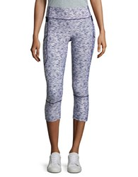 Ivanka Trump Space Dyed Cropped Active Leggings Blue