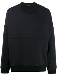 Odeur Boxy Fit Contrast Panel Sweatshirt 60