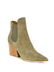 Kendall Kylie Finley Suede Point Toe Booties Green