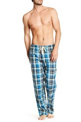 Lucky Brand Plaid Woven Lounge Pant Blue