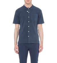 Oliver Spencer Terry Polo Shirt Indigo Rinse