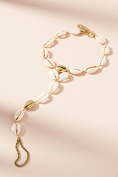 Anthropologie Cowrie Shell Ankle Bracelet Gold
