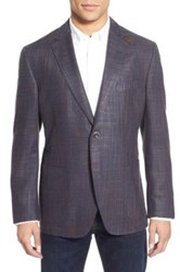 Kroon Bono 2 Wool And Silk Sport Coat Red