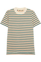 Madewell Remy Striped Cotton T Shirt Green