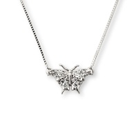 J. Herwitt Small Butterfly Necklace Silver