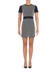 Michael Michael Kors Petite Colorblocked Checkered Dress New Navy