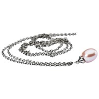 Trollbeads Fantasy Freshwater Pearl Pendant Necklace Silver Pink