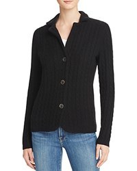 Bloomingdale's C By Cable Knit Cashmere Blazer Black