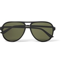 Gucci Aviator Style Acetate Sunglasses Black