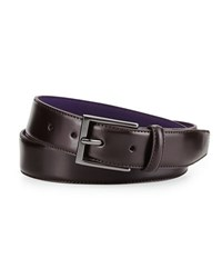 Neiman Marcus Leather Dress Belt Brown