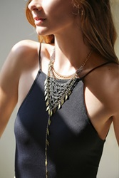 Free People Chainmail Bandana Necklace