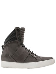 Cipher Nubuck Leather High Top Sneakers