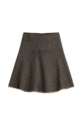 Etro Flared Wool Skirt Brown