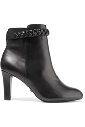 Schutz Stany Leather Ankle Boots Black