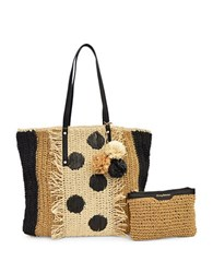 Tommy Bahama Straw Tote Black Multicolor