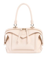 Givenchy Sway Small Leather Top Handle Bag Off White