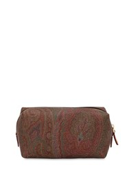 Etro Paisley Printed Faux Leather Zip Case Multicolor