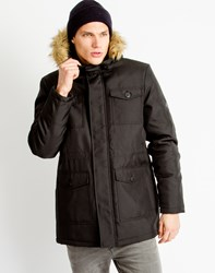Only And Sons Mens Parka Coat Black