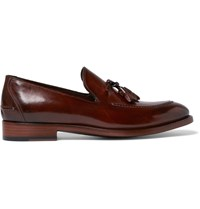 Paul Smith Haring Polished Leather Tasseled Loafers Brown