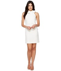 Vince Camuto Crepe Halter With Bow At Neck Ivory Women's Dress White