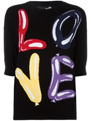 Love Moschino Intarsia Logo Jumper Black